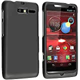 Leegoal(TM) Black Rubberized Protector Case for Motorola DROID RAZR M XT907