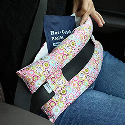 Hysterectomy Seatbelt Pillow with Pocket for Cervical Cancer Uterine fibroids Abdominal Surgery Abdomen Healing Protector Organ Transplants C-Section Recovery Car Seat Belt Pad (Sunflower): Baby