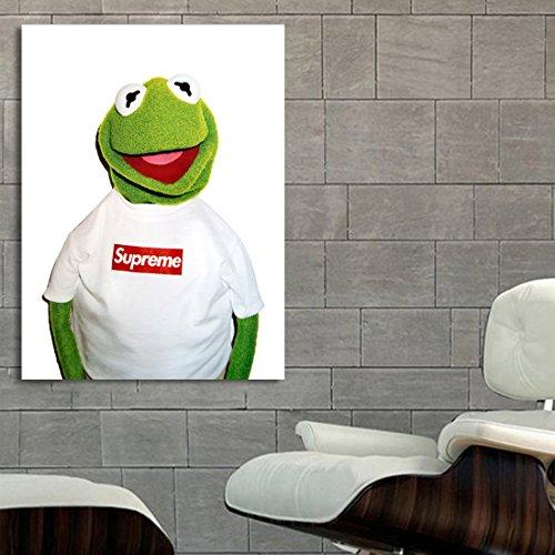 #01 Poster Mural Kermit Supreme 30x40 inch (76x100 cm) on Adhesive Vinyl by SDK mural