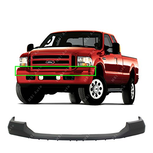 Upper Top Cover - MBI AUTO - Primered, Front Upper Bumper Top Pad for 2005-2007 Ford F250 F350 Super Duty 05-07, FO1057292