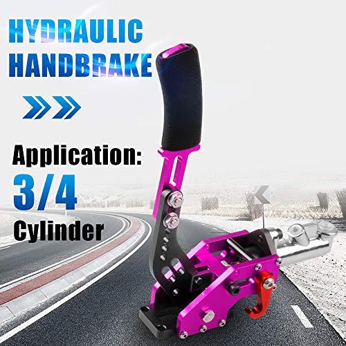 RYANSTAR Hydraulic Handbrake Master Cylinder 3/4, E-brake Racing Parking Emergency Brake Lever Handle (Purple)