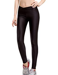 53afb0bff3 Guiran Women Full Length Leggings Yoga Pants Plus Size Solid Color High  Waist Push Up Legging