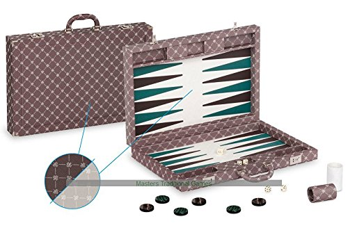Dal Negro Prestige Backgammon Case - Brown