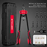 """WETOLS 14"""" Rivet Nut Tool, Hand Rivet Nut Tool with 7 Metric & Inch Mandrels M6 M8 M10, 1/4-20, 5/16-18, 3/8-16, 70pcs Rivnuts and Blow Carry Case - WE882"""