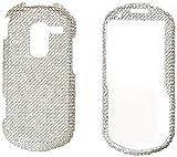 Asmyna SAMM570HPCDMS001NP Premium Dazzling Diamond Diamante Case for SAMSUNG: M575, R455C, M570 (Resto re), R570 (Messager III), R580 (Profile) - 1 Pack - Retail Packaging - Silver