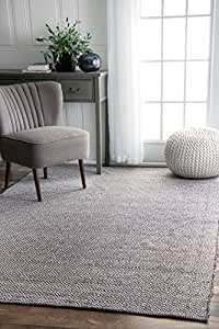 nuLOOM Grey Hand Loomed Lorretta Area Rug, 8' x 10'