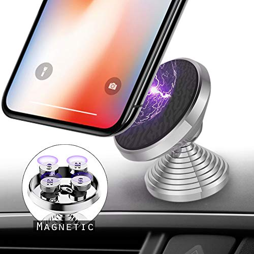Magnetic Car Phone Mount, Tiamat 360 Degree Rotation Phone Holder Adjustable Dumbbell Phone Stand Anti-Slip Car Holder Universal Dashboard Compatible with iPhone, Samsung, Android Smartphones (Best Dumb Phone 2019)