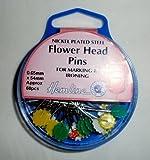 Hemline Flower Head Pins, 54mm, pk of 60 by Hemline