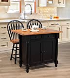 Bar Stools Near Me Sunset Trading DLU-KI-4222-B24-BCH3PC Black Cherry Selections Kitchen Island Set, Distressed Antique rub