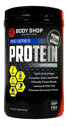 Body Shop Nutrition - Ultra Pure 100% Native Whey Pro Series Protein Powder - Cleanest Protein Available - No Carb - Unflavored - 2lbs