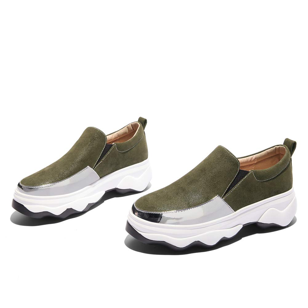 Women's Fashion Sneakers Casual Loafers Slip On Loafers Casual Non-Slip Thick Bottom Wedges Soft Walking Shoes B07GFGLZQL Wedge 842e17