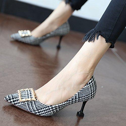 zapato patrón tacón parte A FLYRCX otoño de el tacones moda primavera y altos La la afilado personalidad señoras solo wP7xPU0qpZ