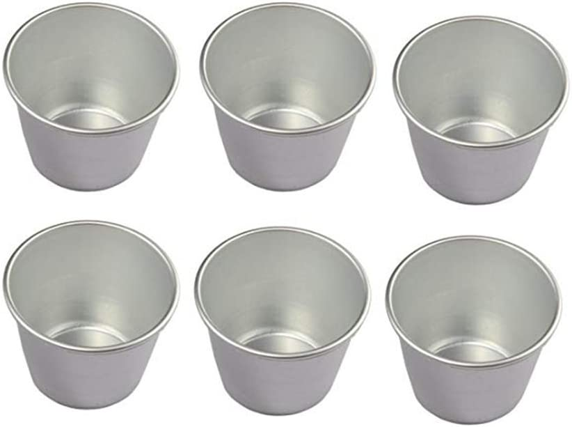 6 Pcs Nonstick Individual Tumblers Popovers Chocolate Molten Pudding Cups Raspberry Mold