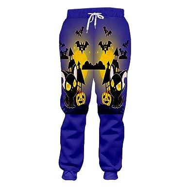 Feliz Halloween Hombre Pantalones de chándal 3D Impreso Bat Kin ...