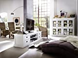 NovaSolo Halifax Entertainment Unit with 4 Drawers, Large, White