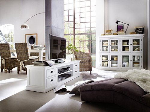 NovaSolo Halifax Entertainment Unit with 4 Drawers, Large, White by NovaSolo