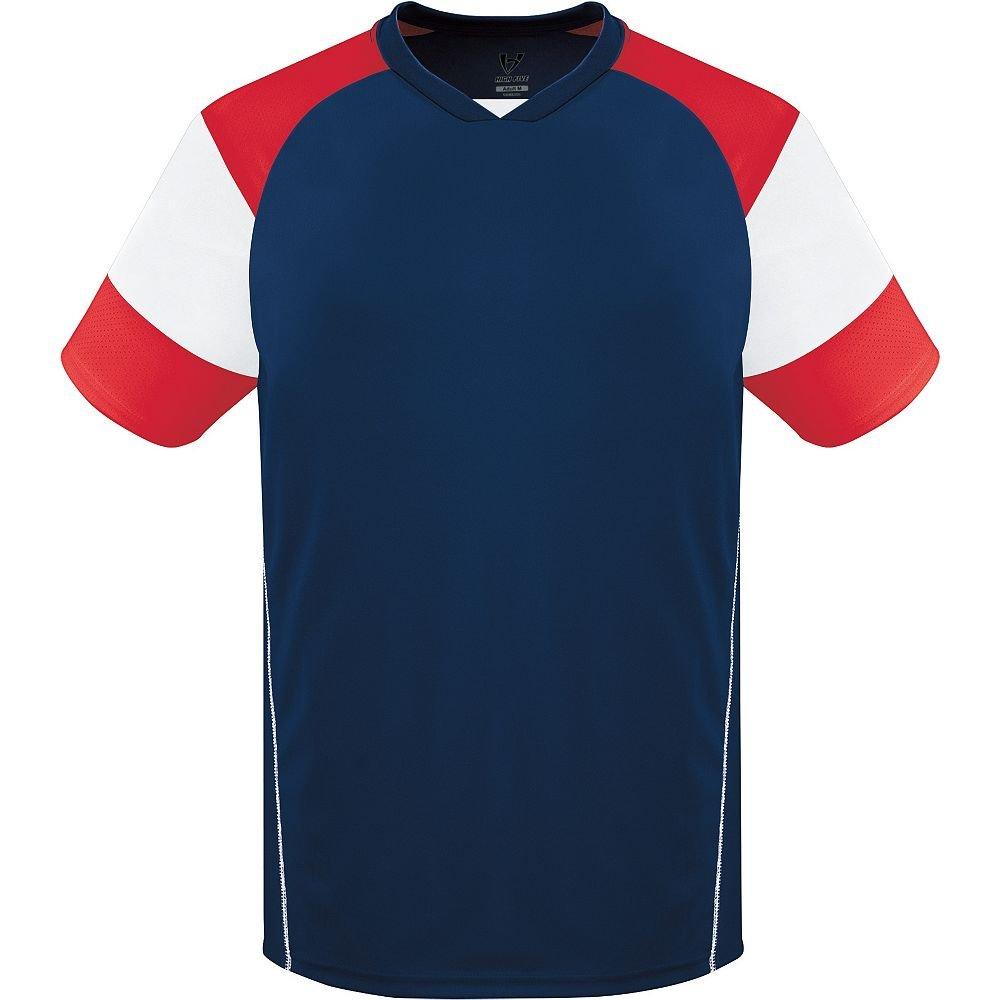 High Five Sportswear SHIRT メンズ B00UMDH7DS S|Navy/White/Scarlet Navy/White/Scarlet S