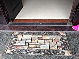 SK Studio Durable Rubber Large Doormat Non Slip Front Entrance Way Door Welcome Mat Rug
