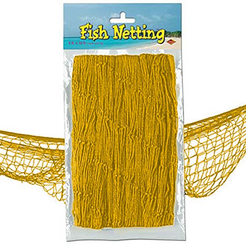 Nautical Fish Netting Party Decor 4' x 12' BRIGHT ()