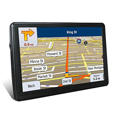 GPS Navigation for Car, 7 Inches 8GB Capacitive Touchscreen, Voice Transfer Route Navigation Features Include Free Updates for Lifetime with A map of the United States by KYXHEART