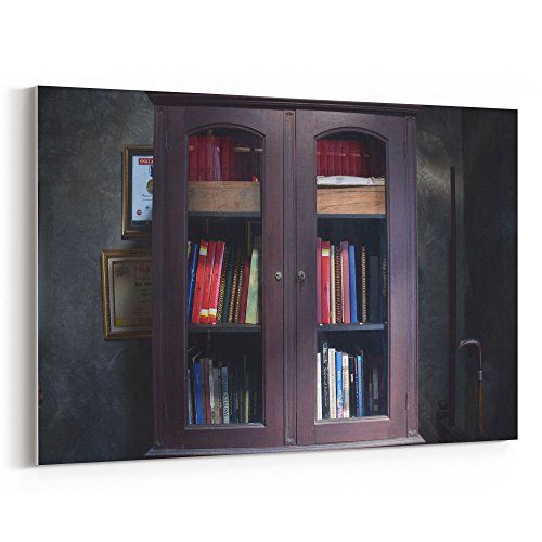 Westlake Art - Bookcase Shelf - 12x18 Canvas Print Wall Art - Canvas Stretched Gallery Wrap Modern Picture Photography Artwork - Ready to Hang 12x18 Inch (08CE-56294)