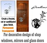 gun cabinet with etched glass - Black Yellow Lab DIY Etched Glass Vinyl Gun Cabinet Window Front Door GC01B