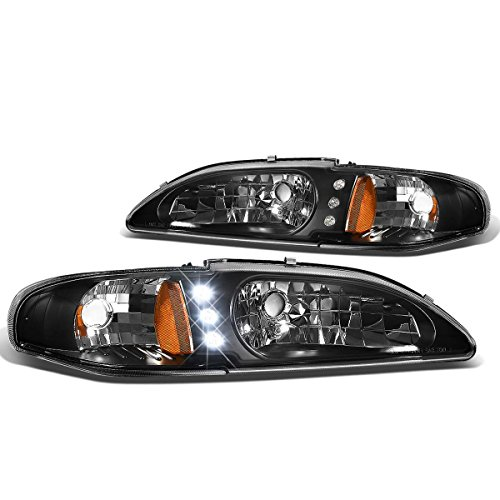 94-98 Headlight Assembly with LED HL-LED-FM94-1PC-BK-AM (Driver and Passenger Side) ()
