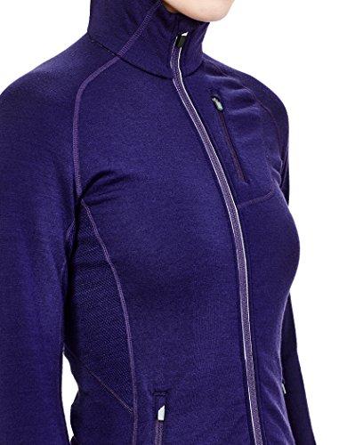 Icebreaker Femme Quantum LS Zip capuche pour UPS L Aura/aura/aura