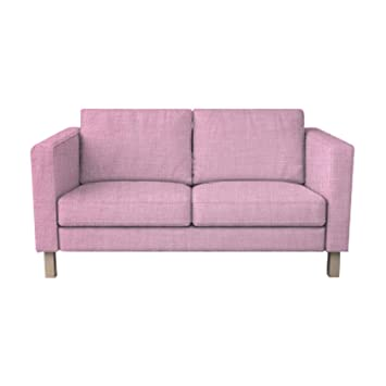 Enjoyable Tlyesd Replace Cover For Ikea Karlstad 3 Seat Sofa Polyester Fabric Slipcover Pink Onthecornerstone Fun Painted Chair Ideas Images Onthecornerstoneorg