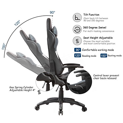 COLIBROX  Ergonomic High Back Racing Style Gaming Chair Recliner Executive  Office Computer,video ...
