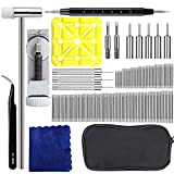 Watch Band Tool Kit, E.Durable 139Pcs Professional Watch Repair Tool Kit Set with Extra 126PCS Pins, 3PCS Pin Punches,1PC Dual Head Hammer, 1PC Tweezers etc Watch Link Remover Tool