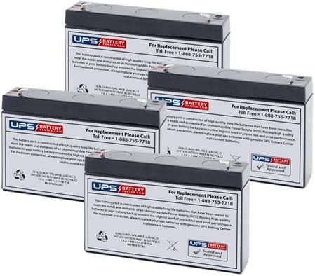 (4) 6V 7Ah F2 - Replacement Battery Set for Tripp Lite SMART750RM1U by UPSBatteryCenter 51XIWxOuR-L