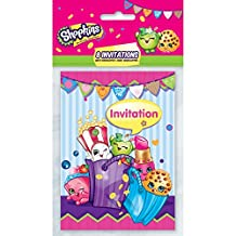Shopkins Invitations - Birthday Party Supplies - 8 per Pack - From Fun365