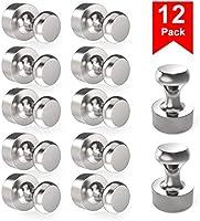 Neodym Magnete 12 Stück N52 Mini Magnet mit Aufbewahrungsbox für Magnettafel, Kühlschrank, Kegelmagnete,...