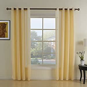 Amazon.com: Leyden Grommet Top Weaving Polyester Modern ...