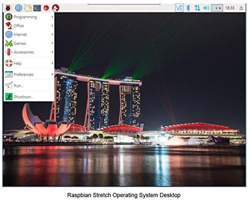 Raspberry Pi 3 B+ Kit - WiFi, Bluetooth, Raspbian, Wireless Keyboard, 16GB High-speed SD, 3A Power Supply, Clear Case by MBTechWorks (Image #5)