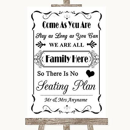 Cartel de boda negro y blanco para toda la familia, sin ...