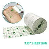 Transparent Stretch Adhesive Bandage,Fencia Waterproof Transparent Adhesive Wound Dressing Fixer Plaster Stretch Fixation Tape Bandage (3.94' X10.93 Yards)
