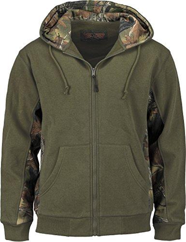 Cambrillo Full Zip Hoodie, Olive, XX-Large (Camo Zip Hood)
