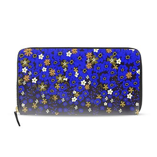 Orange Yellow Sunflower PU Women Clutch Bag Long Wallet Purse
