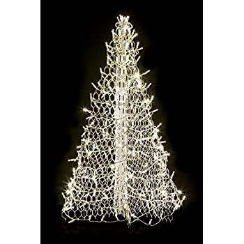 4 crab pot christmas tree with white wire and 240 clear led lights