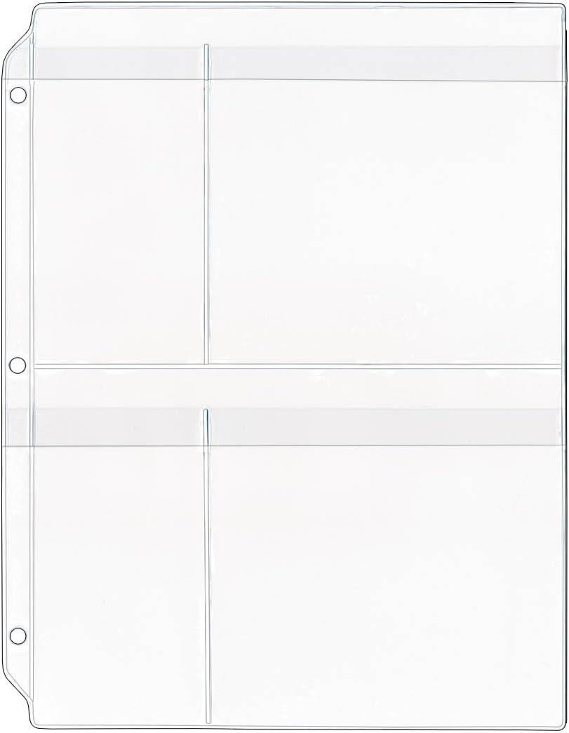StoreSMART Yarn Organizer with Flaps 4-Pocket Binder Page R931F-YARN-10 10-Pack