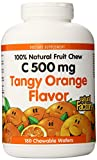 Natural Factors Vitamin C Tangy Orange Flavor Chewable 500 Mg Wafers, 180-Count (Pack of 6)