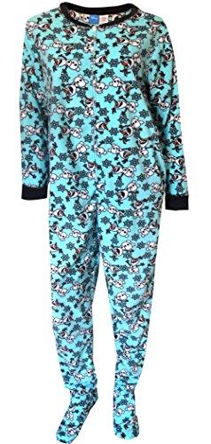 Disney Women's Frozen One-Piece Plus-Size Pajama Bodysuit