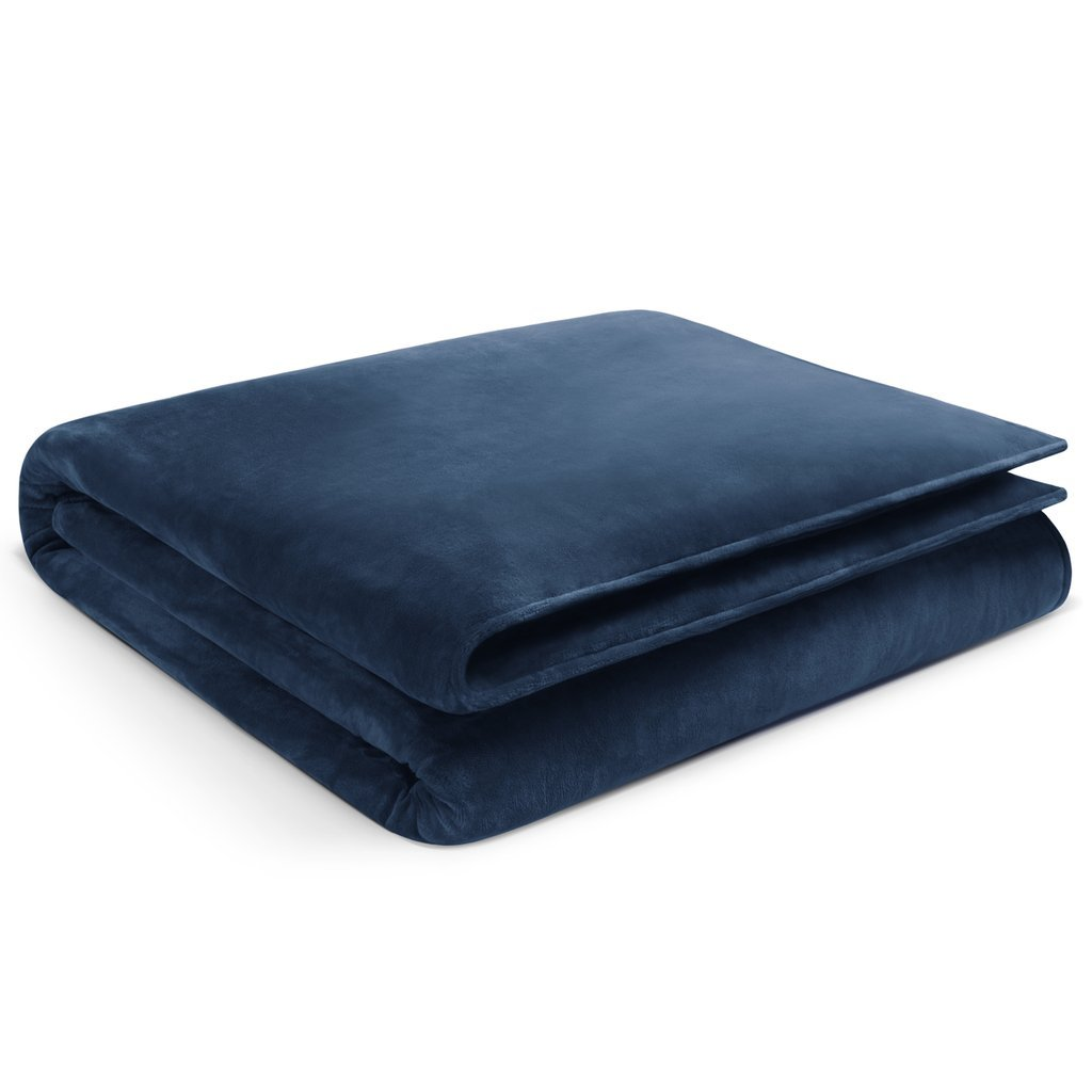 Restorology Weighted Blanket - Hypoallergenic Ultra Plush - Multiple sizes for Children & Adults. Great for Anxiety, ADHD, Autism, OCD, and Sensory Processing Disorder - 12LB - 60'' x 80'' - Navy