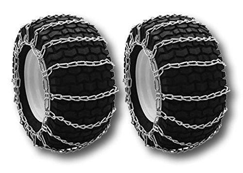 OakTen Set of Two Snow Tire Chains for Lawn Tractor Snowblowers Repl Husqvarna 954 0502-02, 954050202 (18''x9.50''x8'') by OakTen