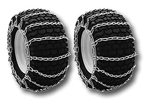 Amazon.com : OakTen Set of Two Snow Tire Chains for Lawn ...