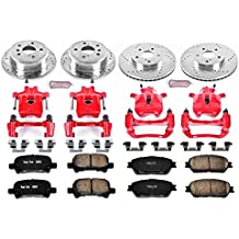 Power Stop KC5482 1-Click Performance Brake Kit with Caliper, Front & Rear