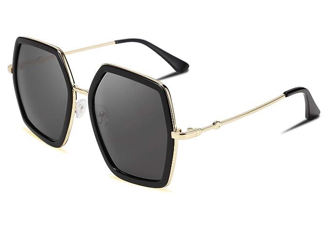 Amazon.com: FEISEDY - Gafas de sol geométricas para mujer ...