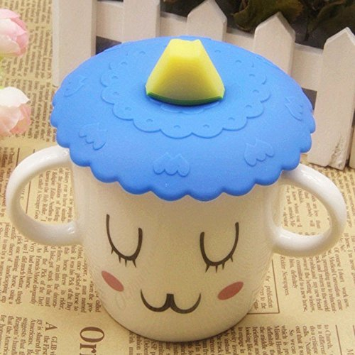 TSG GLOBAL 1pc Lovely Anti-dust Silicone Fruit Cup Cover Leakproof Coffee Lid Cap Airtight Sealed Cup Cover (hami (Global Dust Cap)